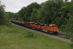 BNSF 8407 & 8766 leads K143 west