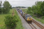 CSX 7665 & 7577 roll west for Chicago with Q147