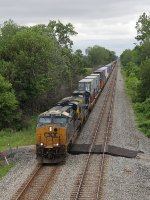 CSX 881 begins to slow with Q146 before taking the Bremen crossover to Track 1