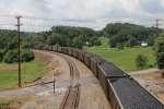 Another coal train for South Carolina Public Utilities rolls away south on the Clinchfield