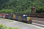 CSX 8206 & 2705 wait out the day under the Appalachian sunshine