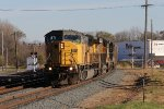 NS SD90 7253 leads 17M west under the late day sun