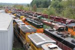 Many units from UP, BNSF, NS and DMIR wait for more work that may never come