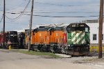 BNSF 1481 sits with other GP15's