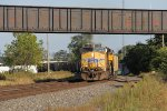 UP 5402 comes around the curve with westbound loaded coal train 558