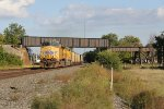 UP 5402 & 6756 pass under the old NKP