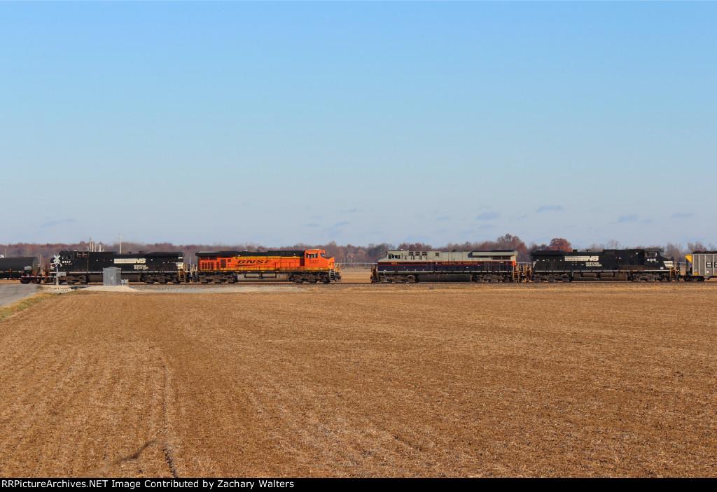 BNSF 5937 NS 9747 NS 8101 9015