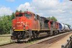 CN 8021 Leads Windmill Train