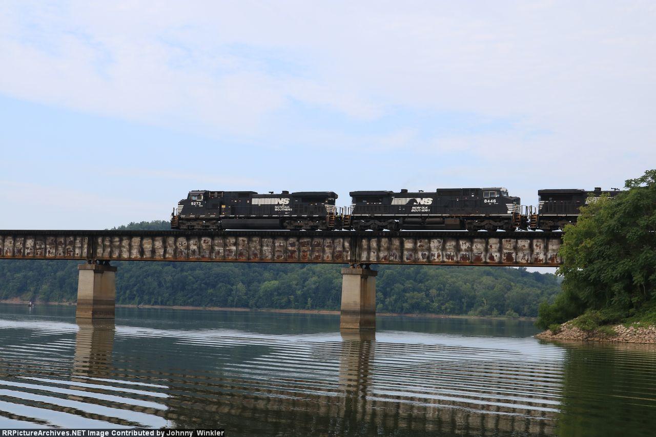 NS 8446 on 744 over Douglas Lake