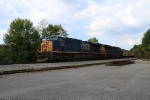 CSX 849 leads a coal train at Byington Solway road