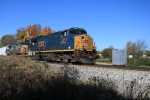 CSX 3351 leads southbound train of mostly TTX flats at Westcott Blvd