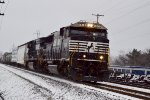 NS in the snow at Columbus