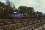 CR GP40-2 3313, U33B 2890, GP40 3008, and U23B 2707