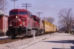 CP train Z490 rolls along