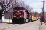 CP train rolls down the streets