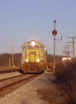 CSX 6412 leads a work extra