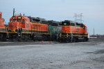 BNSF 2680, 2895, and 2555