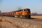 BNSF 8032 Leads a loaded grain train down the Saint Croix sub.