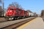 CP 4506 Leads a yard job past the Amtrak station in La crosse Wi.
