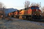 BNSF 4679 Leads a freight up the Aurora Sub,