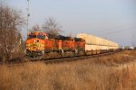 BNSF 7652 Leads a early morning Z down the Aurora Sub