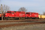 CP 2203 Sits' with Cp 2274 in the small yard at Winona Mn.