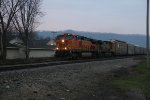 BNSF 4090 Leads a morning rack into town.