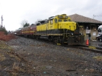 Sat morning train(BHPX) from Binghamton sits in the station unloading