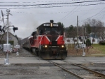 BHPX pulls back into the station for the return trip to Binghamton