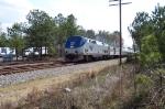 Amtrak rumbles north at 70mph.
