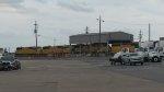 Locomotive staging yard.