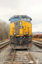 CSX 3040 with discolor gray door