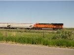 DPU on a departing grain train