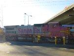 A BNSF B40-8W returns to SoCal