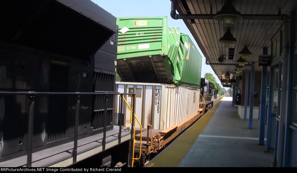 Damaged Container Passing Through
