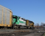 BNSF 6350 leads Southeast bound Q290