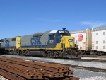 CSX 2347 sits with a nice set of stack horns