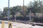 The shared Austin & Western/MetroRail tracks