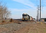 NS K64 southbound approached on MP 50.0 and, near Wyoming siding end
