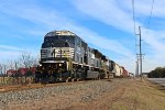 NS K64 southbound approached on MP 50.0 nearby on Wyoming siding end