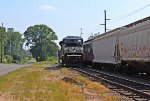 NS SD80MAC #7221 lone and, sit on the Jello yard awhile weekend day away