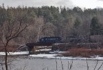 MEC 3400 leads RJED eastbound through Buckland, MA