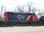 Canadian National GP38-2 is second on RJY30.