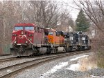 CP 9615, BNSF 8278; NS 8387 and 5222