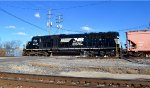 NS SD40E on a local at Columbus, OH