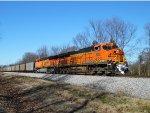 BNSF 6327 leads NS 734