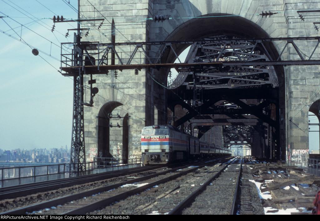 "Amtrak 972 on ""The"" Bridge (Employee Photo)"