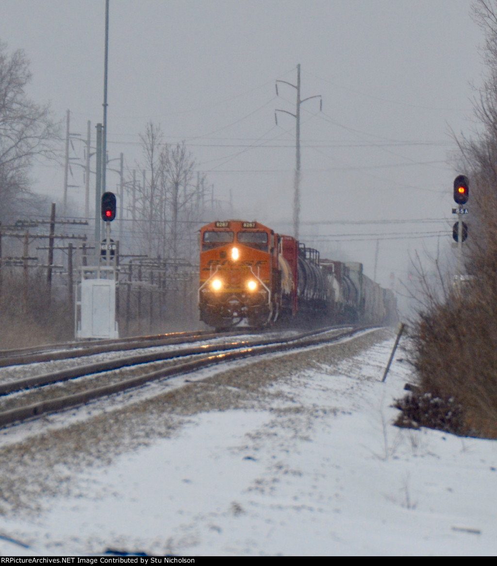 BNSF on the NS Main at Columbus, Ohio