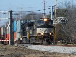 Two NS Dash9's lead 22N east on a fine winter afternoon