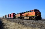 BNSF 6907 and 4873